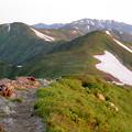 Photos: 朝日に映える稜線