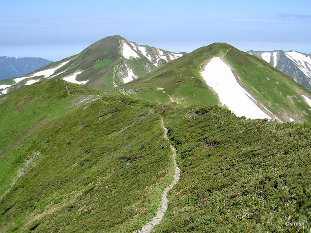 梅花皮岳と北股岳
