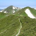 Photos: 梅花皮岳と北股岳