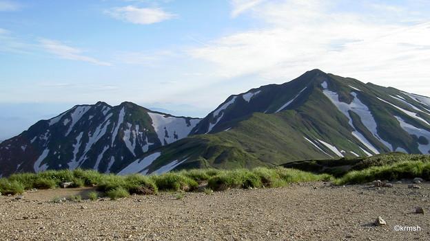 御西岳避難小屋より大日岳?