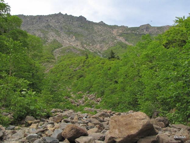 あの岸壁に登山道がある