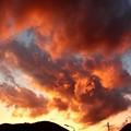 写真: 1月30日富士川町からの夕焼け~富士山は残念でしたが、西は派手に焼けましたね!