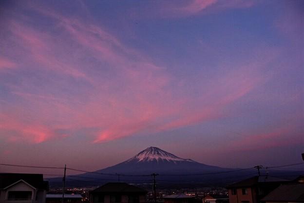 3月4日富士宮からの夕方富士山~ ちょっと夕焼け(^ ^)