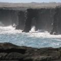 溶岩台地と海