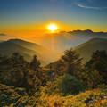 台灣_高山。 【日落】