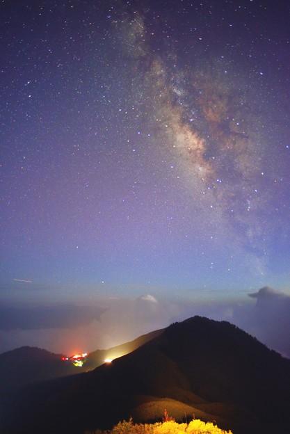 【 天の川 】 。星空