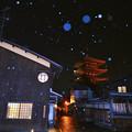 京都 雪|八坂通。