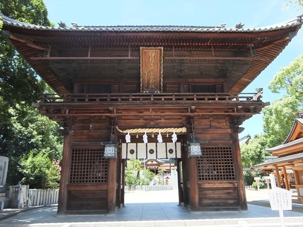 椿神社02 楼門―左大臣・右大臣は誰?