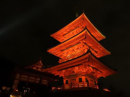 清水寺(夜)09 三重塔