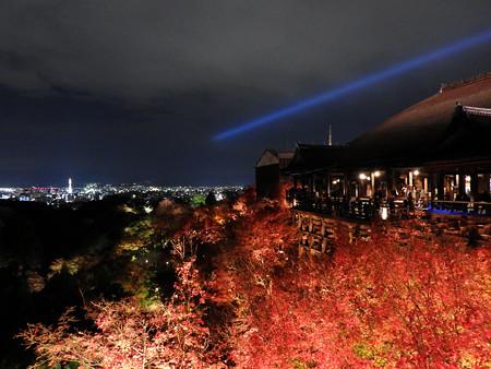 清水寺(夜)31 奥の院から清水の舞台を望む