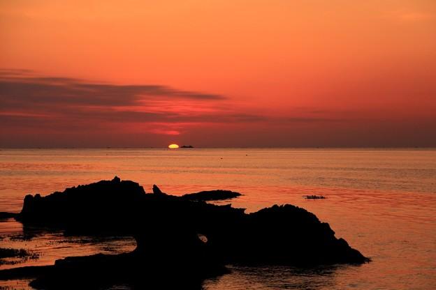 今日の朝景:日の出