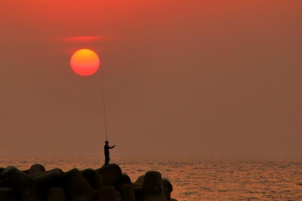 内灘夕景 日の沈む頃