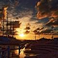 写真: 海王丸パークの夕景02