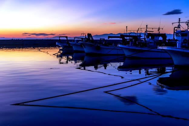 漁港の朝景02