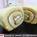Photos: しょうゆスイーツロールケーキ断面図