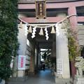 築土神社の鳥居