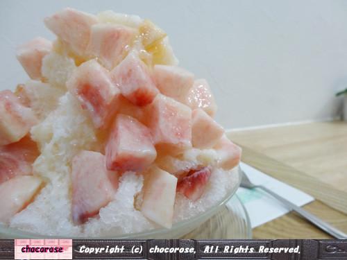 おかやま夢白桃のふわふわミルクかき氷