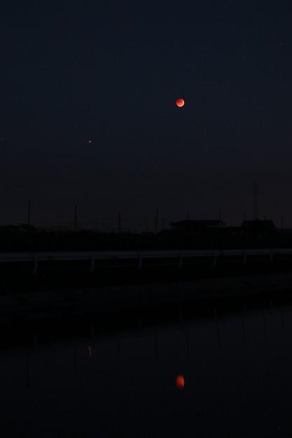 7月28日皆既月食 風景