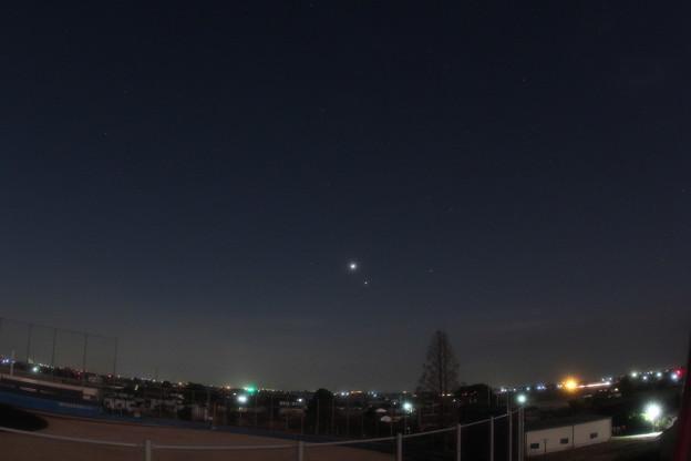 金星と木星の接近