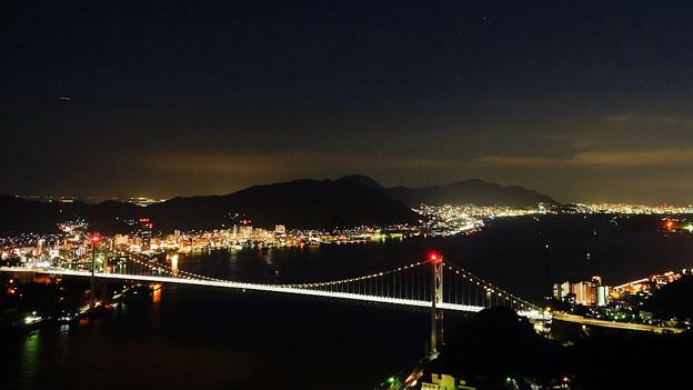 写真: 関門海峡夜景