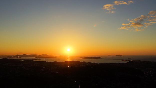 響灘に沈む夕日_5