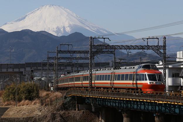 富士山とロマンスカー