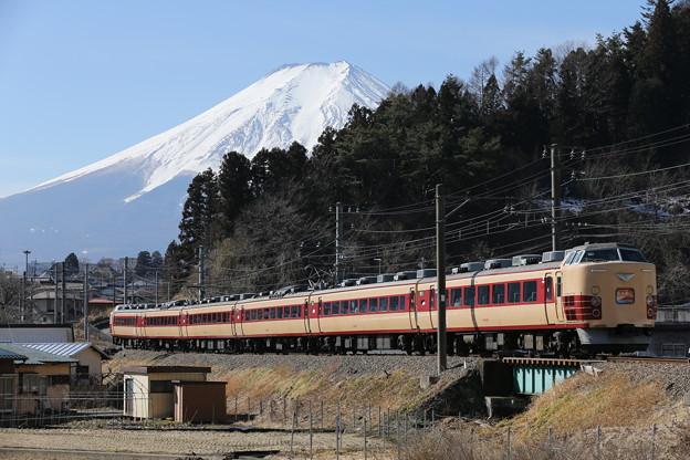 Photos: 早春の富士を背に