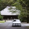 Photos: 寺の前で
