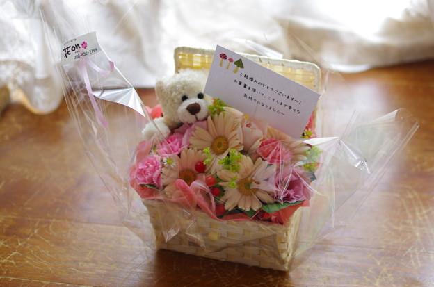 写真: ふぢたさまからのお花♪
