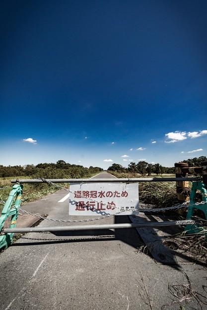 通行止め@川島町