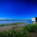 水没したグラウンド@桶川