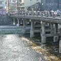 写真: 鴨川/三条大橋