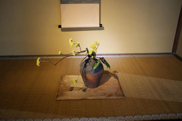 床の間の生け花