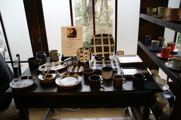 展示されている陶器