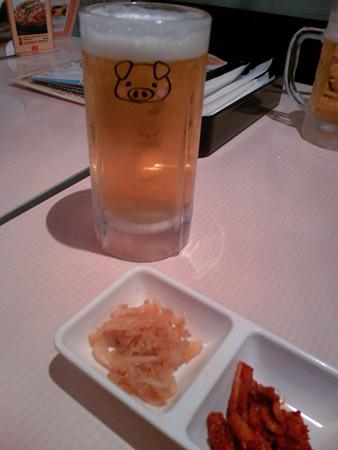 韓豚屋(ハンテジヤ)ビールジョッキ