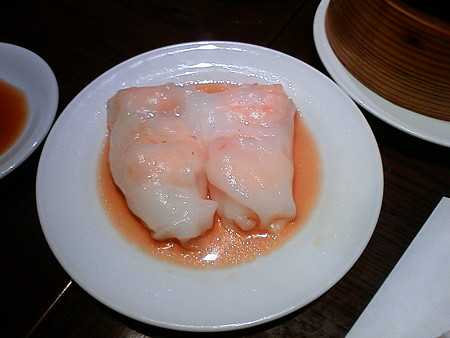 香港茶樓(ホンコンサロウ) 海老の腸粉(チョンファン)