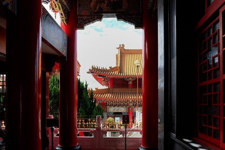 2015.11.09 台中 文武廟 中殿から前殿