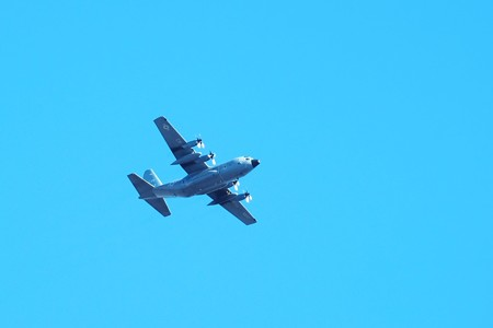 2015.12.19 追分市民の森 C-130T Hercules