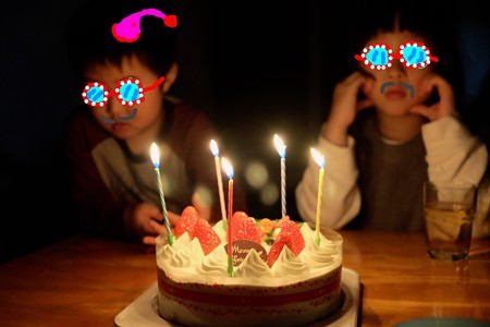 2015.12.24 居間 クリスマスケーキ