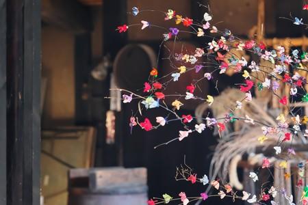 2018.02.12 長屋門公園 風船葛の種で雛飾り