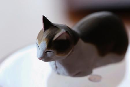 2018.03.29 机 ガシャポン 猫