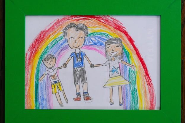 写真: 2018.06.26 病室 姫から頂いた「虹」