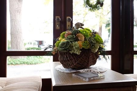 2018.12.05 エリスマン邸 世界のクリスマス2018 窓辺 花籠