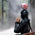 2019.08.19 丸の内仲通り RUGBY ART EXHIBITION 忍者 霧隠れの術 呪文CACAO SAMPAKA