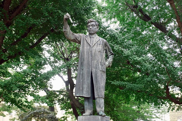 2019.08.19 上野 野口博士の像