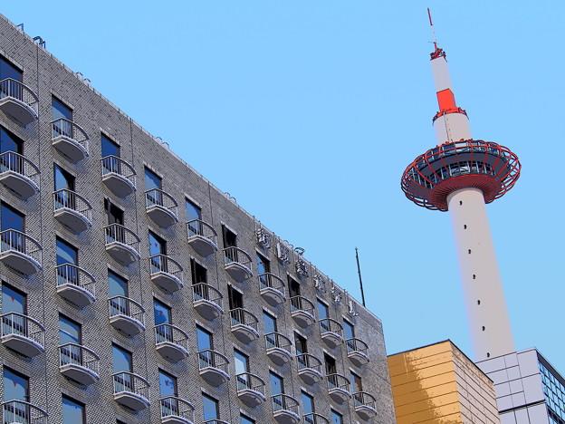 新阪急ホテルと京都タワー