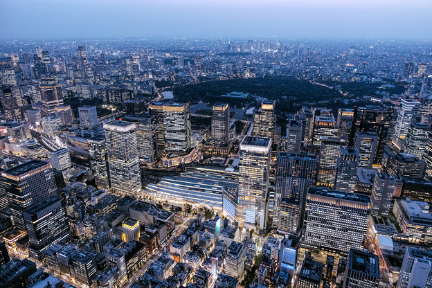Aerial photography of Tokyo