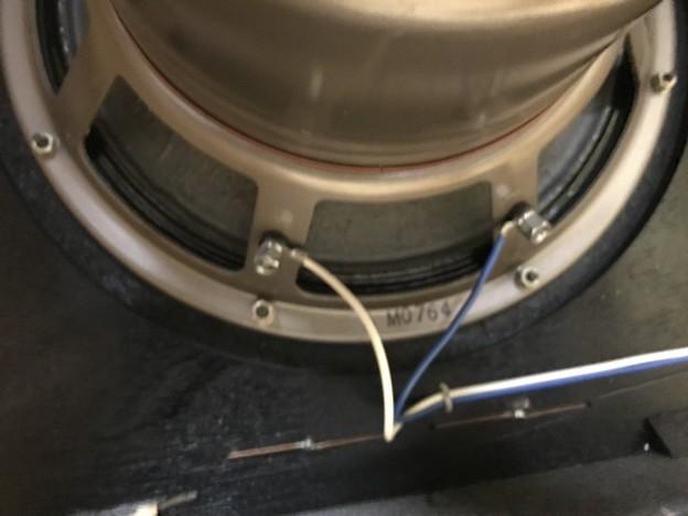 写真: ダイヤトーン R305のウーファー スポンジ交換 1