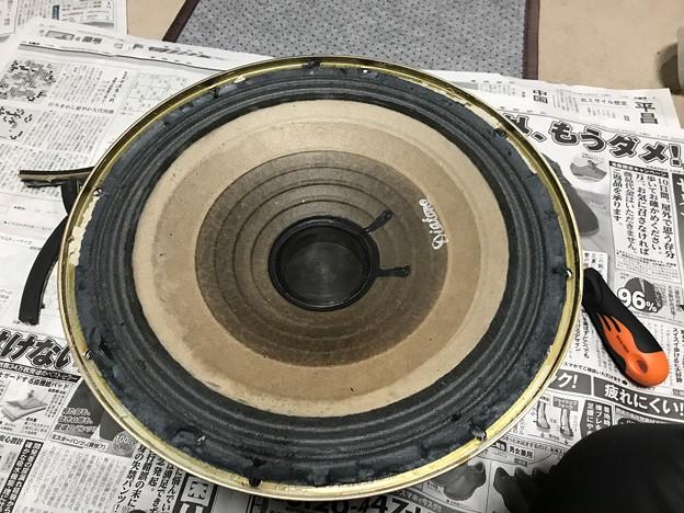 写真: ダイヤトーン R305のウーファー スポンジ交換 6