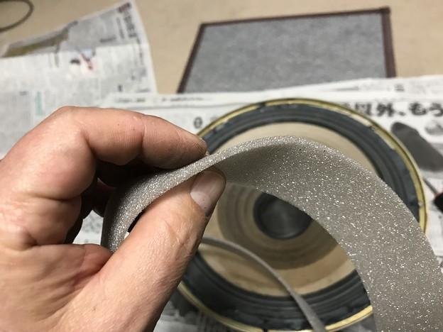 ダイヤトーン R305のウーファー スポンジ交換 7